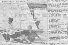 1963 pr - REGATA KADETT ZA POKAL NINO FAVRETTO V TRSTU - 1. MESTO BANDEL, GULIČ, 2. MESTO OREL, FAFANGEL